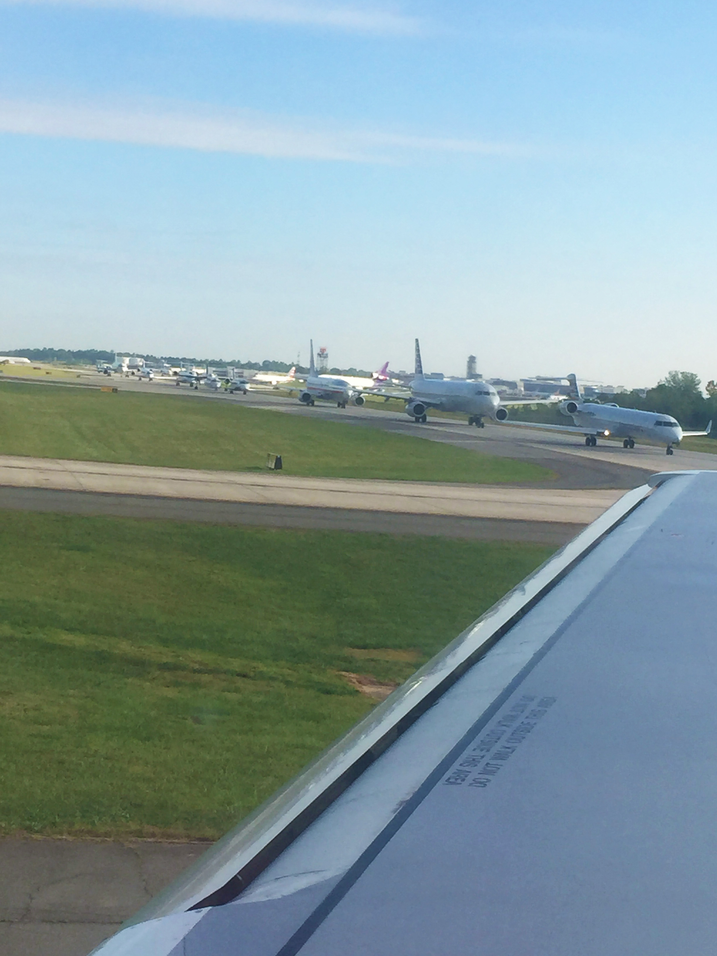 Ever been in an Airplane traffic jam? We have!!!