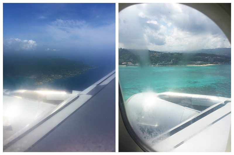 Flying over the island! Were coming in for a landing!