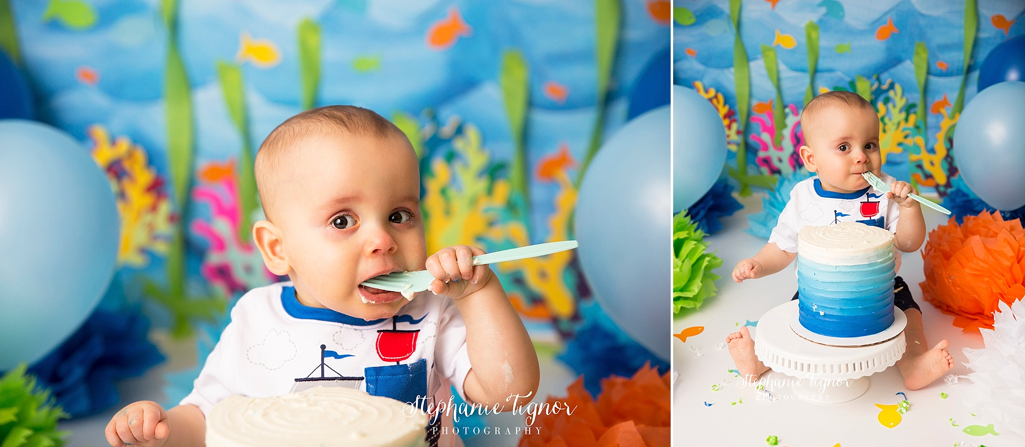 Stephanie Tignor Photography | Fredericksburg VA Cake Smash Photographer | Warrenton VA Cake Smash Photographer | Stafford VA Cake Smash Photographer | Cake Smash Photographer