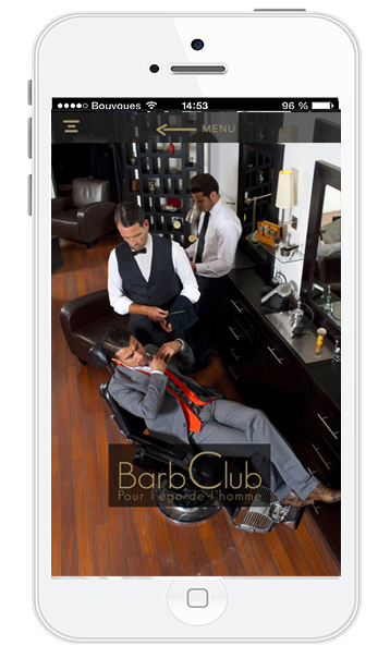 Application BarbClub | Barbiers | salon esthetique homme