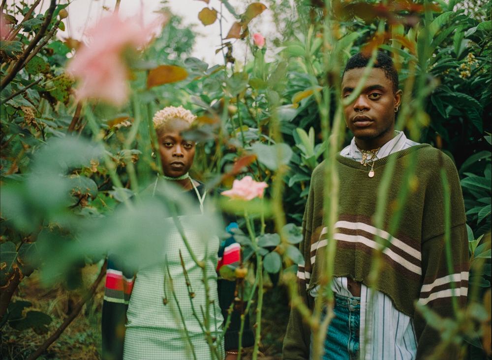 Fen & Jake in their garden