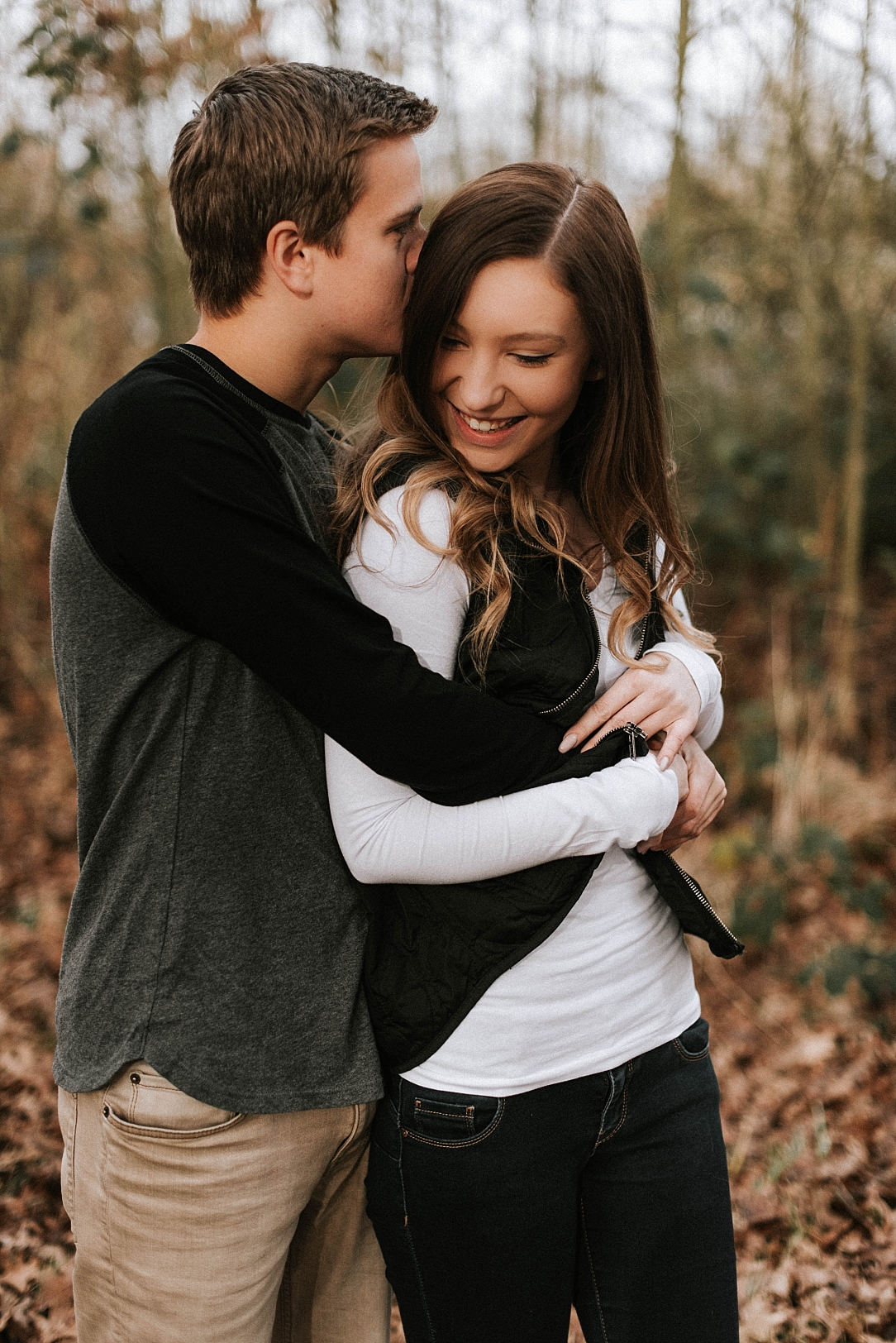 carefree winter couples session