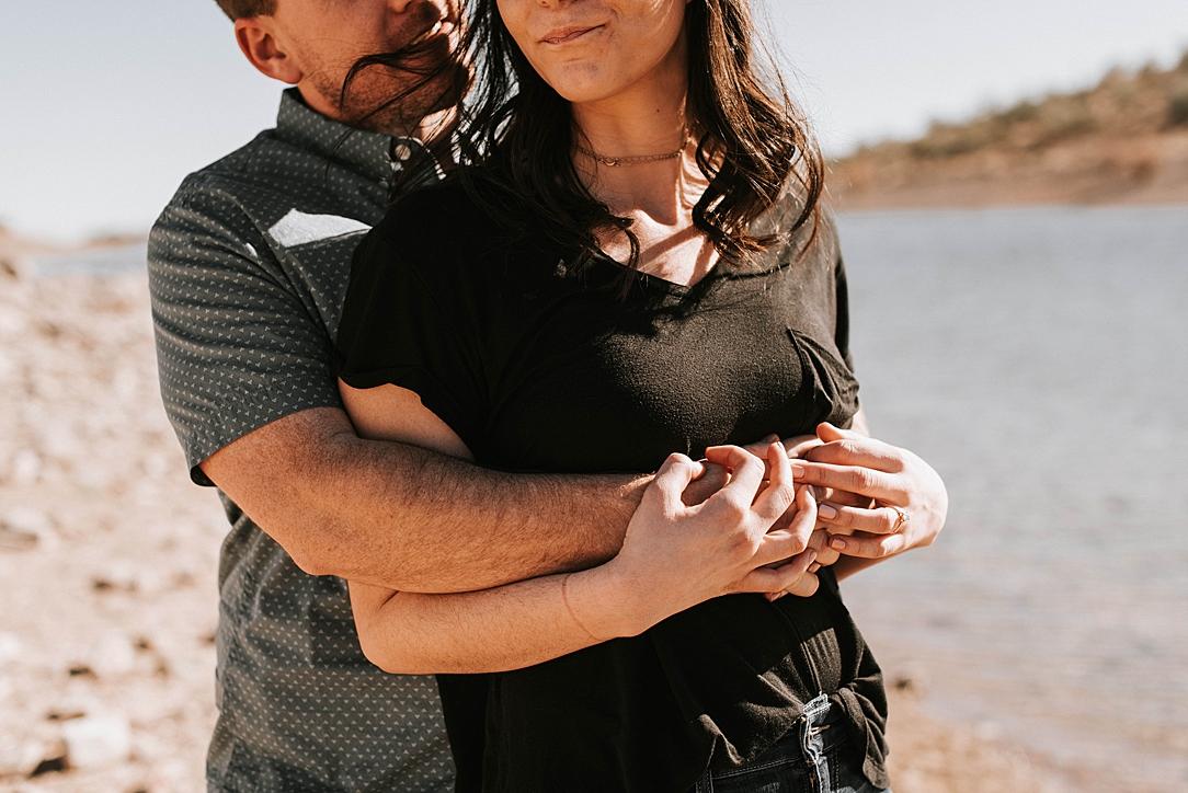 sunny arizona desert engagment