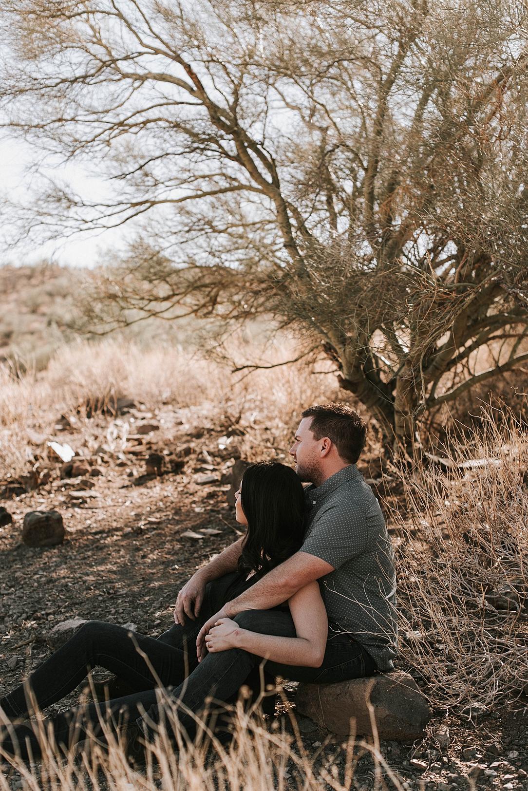 sunny arizona desert engagement