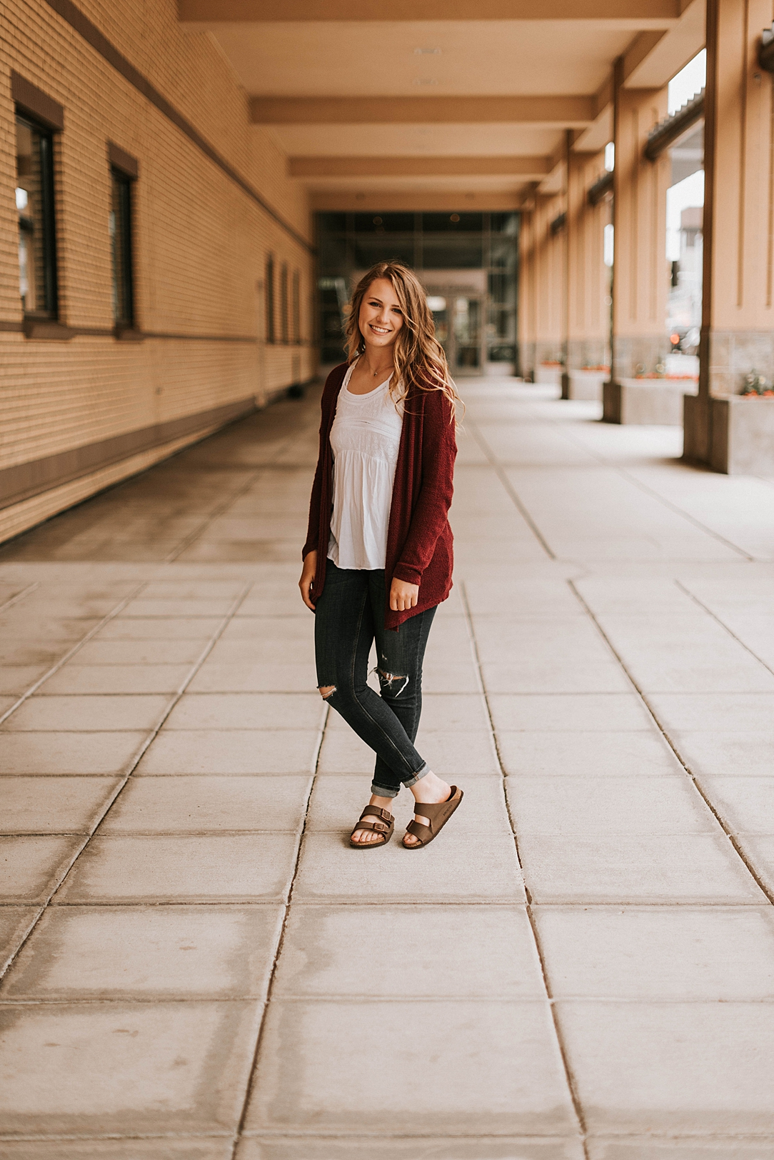 downtown senior session