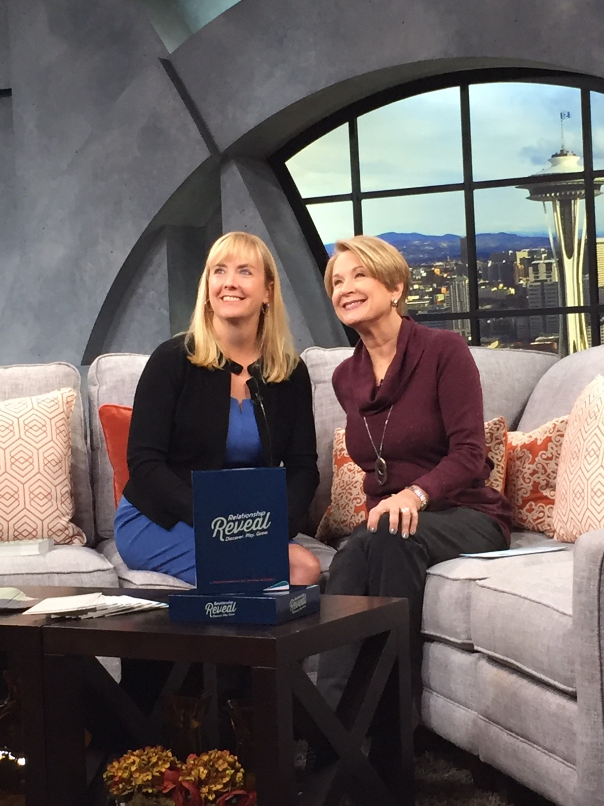 Interview with Margaret Larson on the set of New Day Northwest on King5.