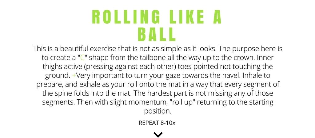 rolling like a ball