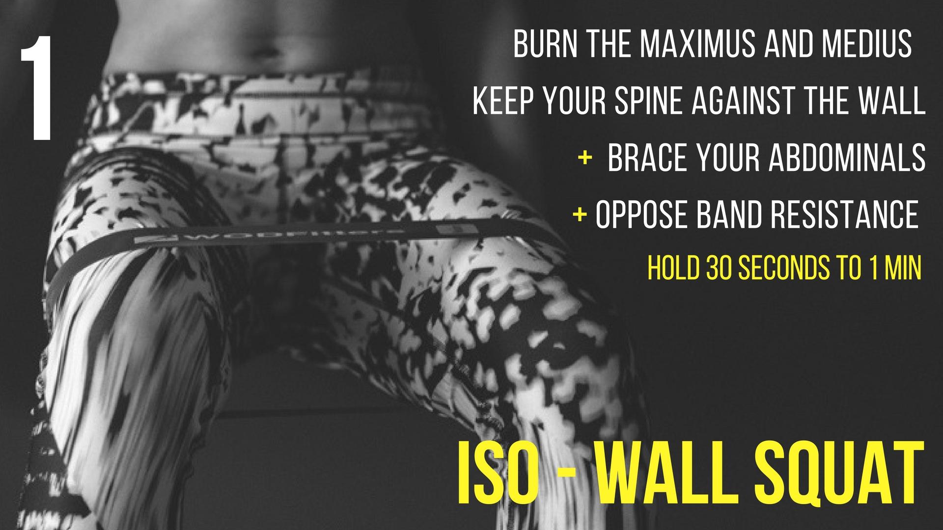wall squat instruction