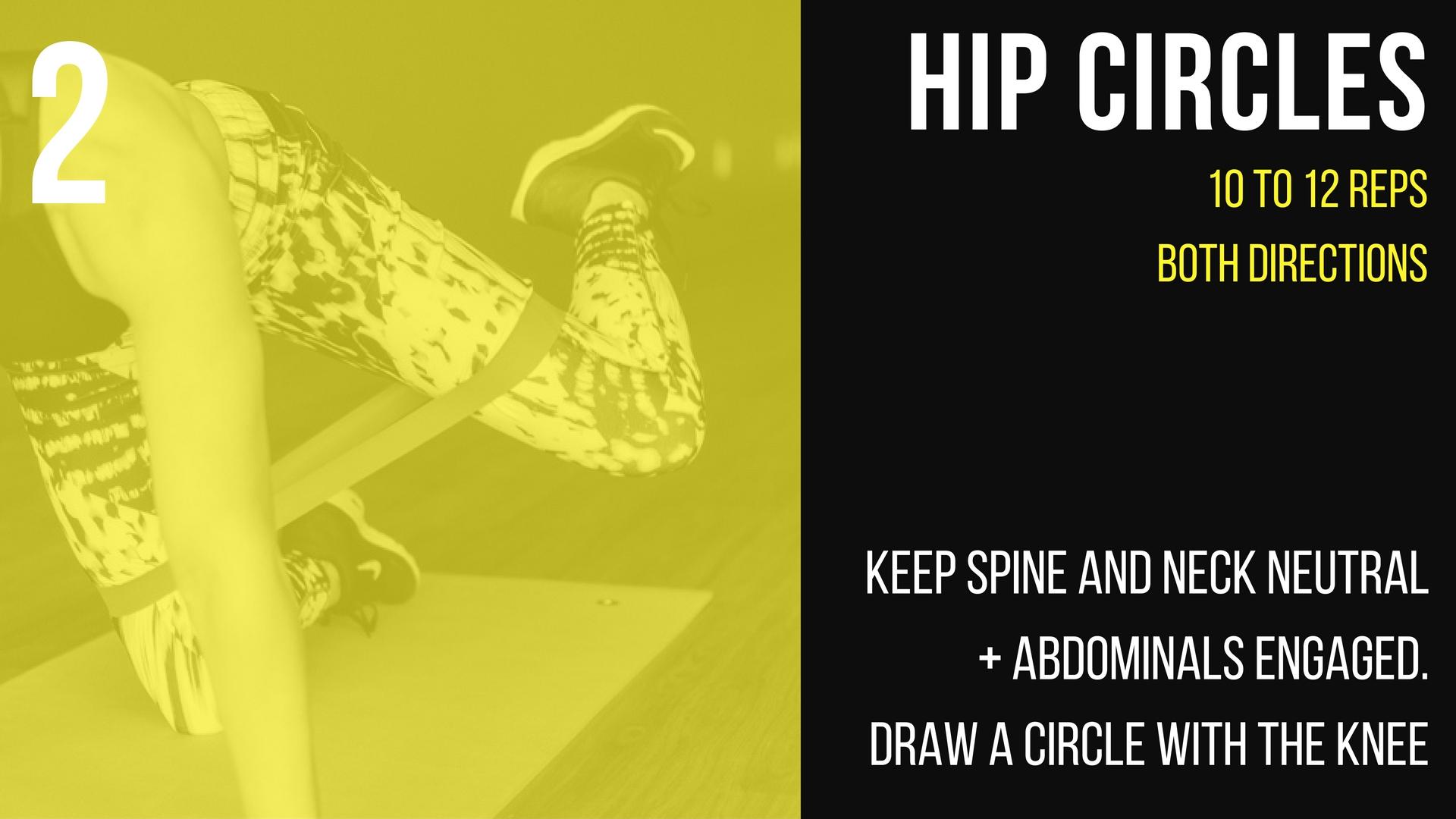 hip circle instruction