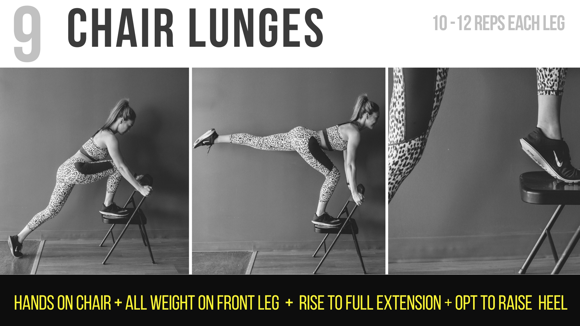 Chair Lunges
