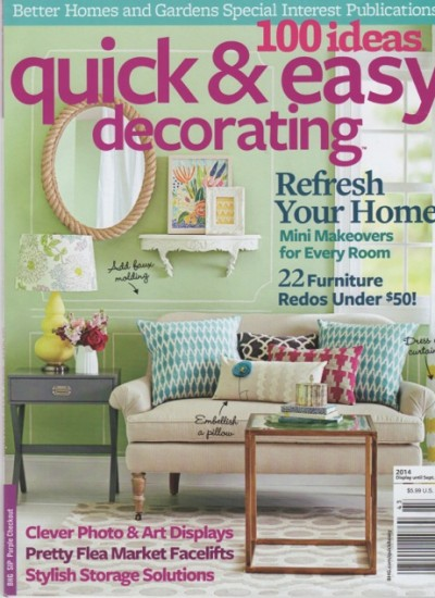 BETTER HOMES & GARDENS, JULY 2014