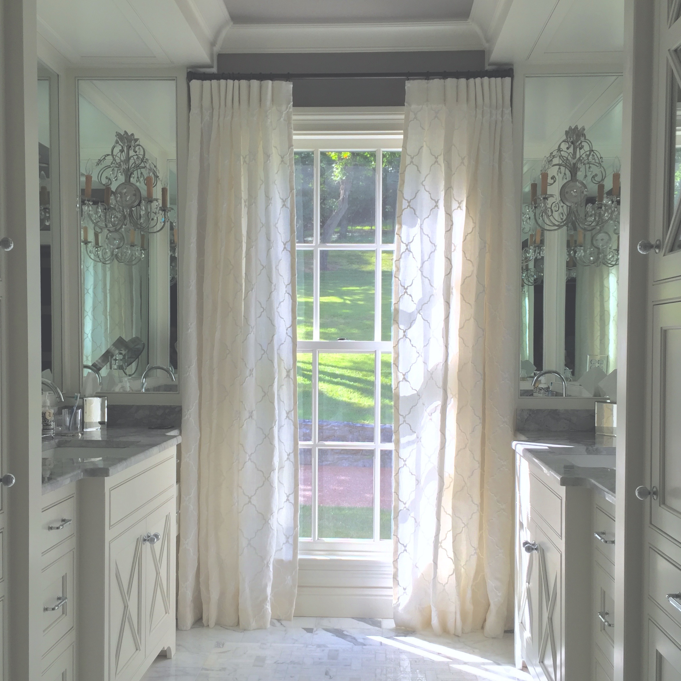 Linen Sheer Curtains, Designer, Workroom & Photo: Camille Moore Interiors