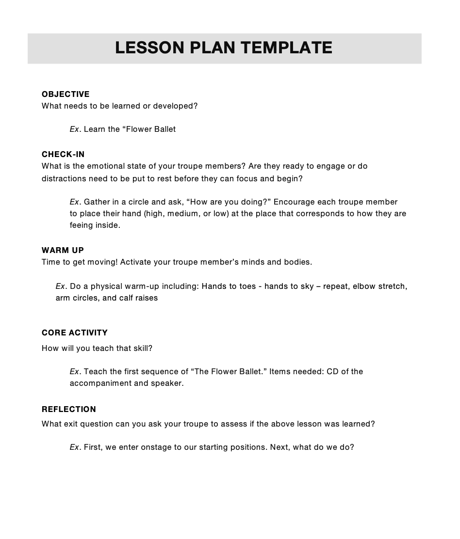 Lesson Plan Template -