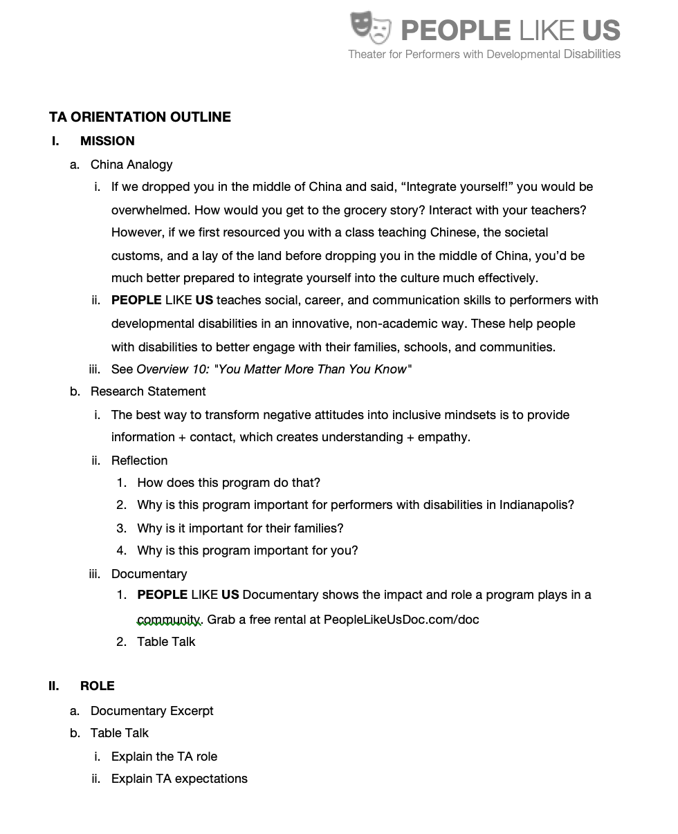 TA Orientation Outline -