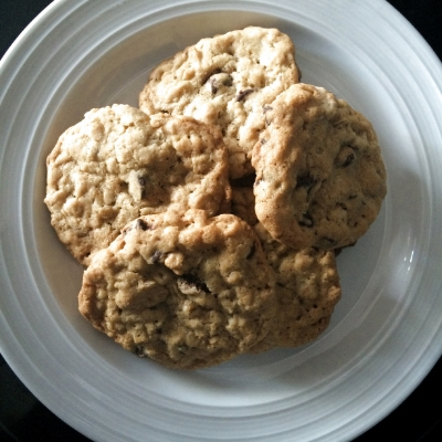 Chocolate Chip Oatmeal Cookies- A Milk and Cookies Bakery Signature!