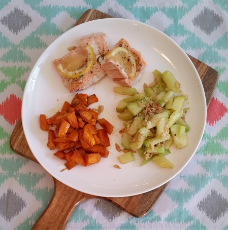 Enjoyed this side dish with salmon and sweet potatoes.