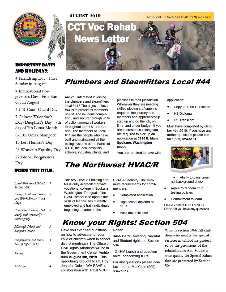 Aug 2019 Newsletter