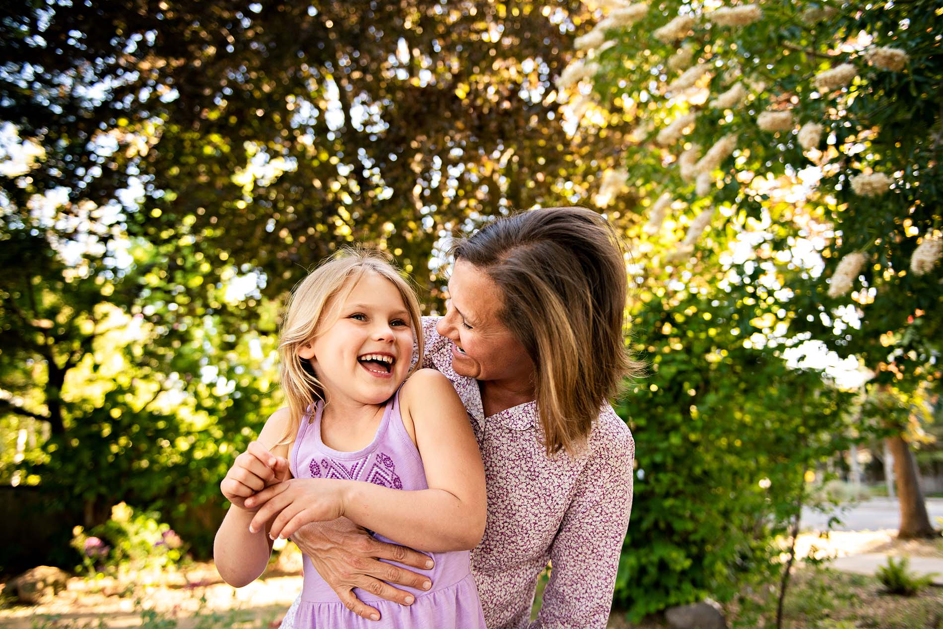 sharon kenney family photography mountain view mother daughter portrait