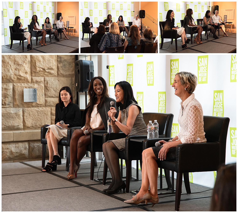 women leadership speaker panel collage