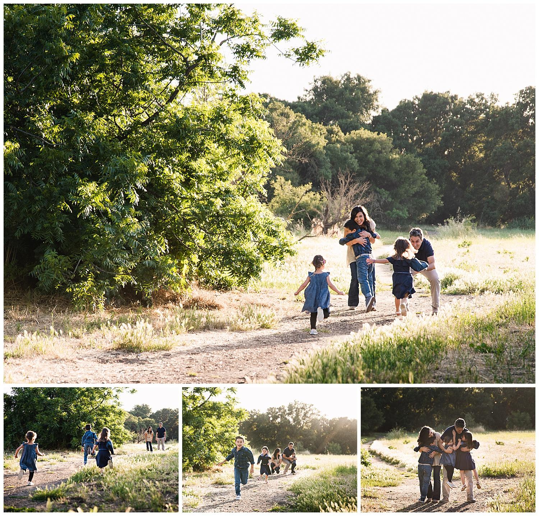 kids running family