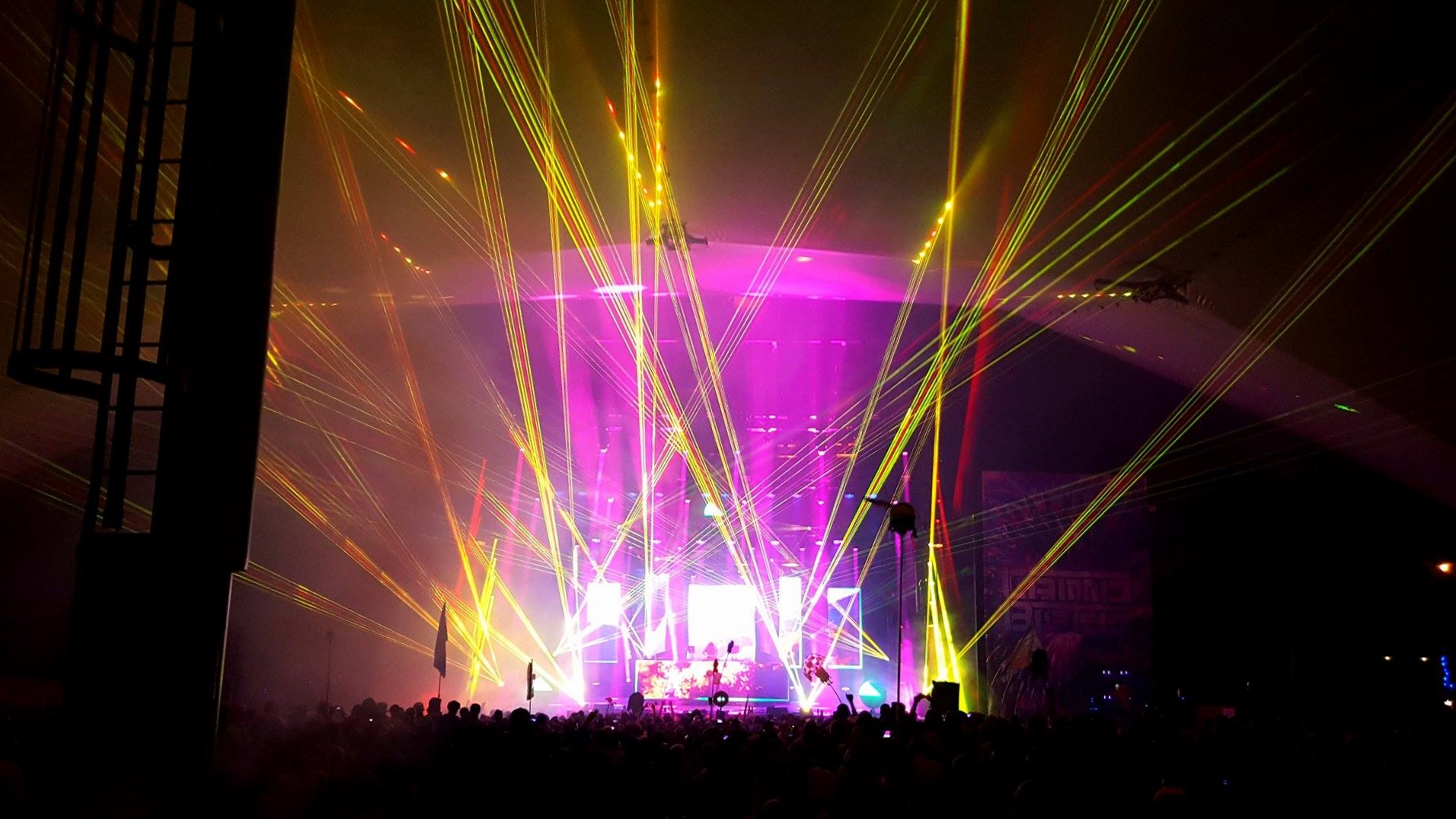 A Picture from Saturday evening's Disco Biscuits set.