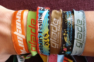 Examples of festival wristbands