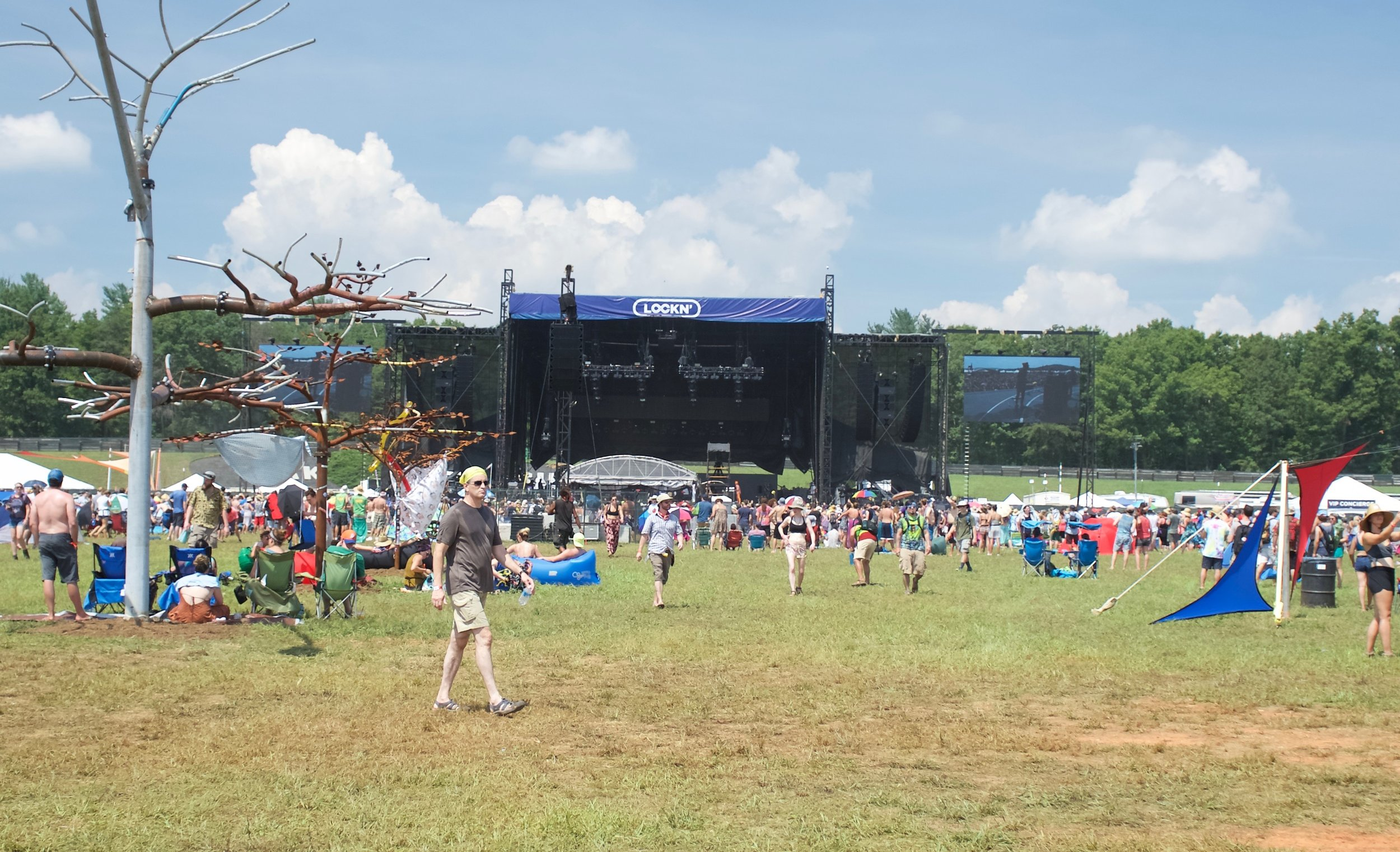 The Main Stage and festival grounds early Friday Afternoon