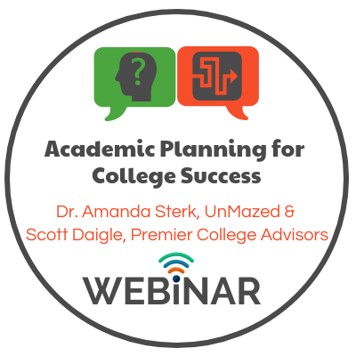 Dr. Amanda Sterk & Scott Daigle, from Premier College Advisors, discusses how various high school academic programs affect college admissions. Topics: Dual Enrollment, Cambridge AICE, International Baccalaureate & Advanced Placement.