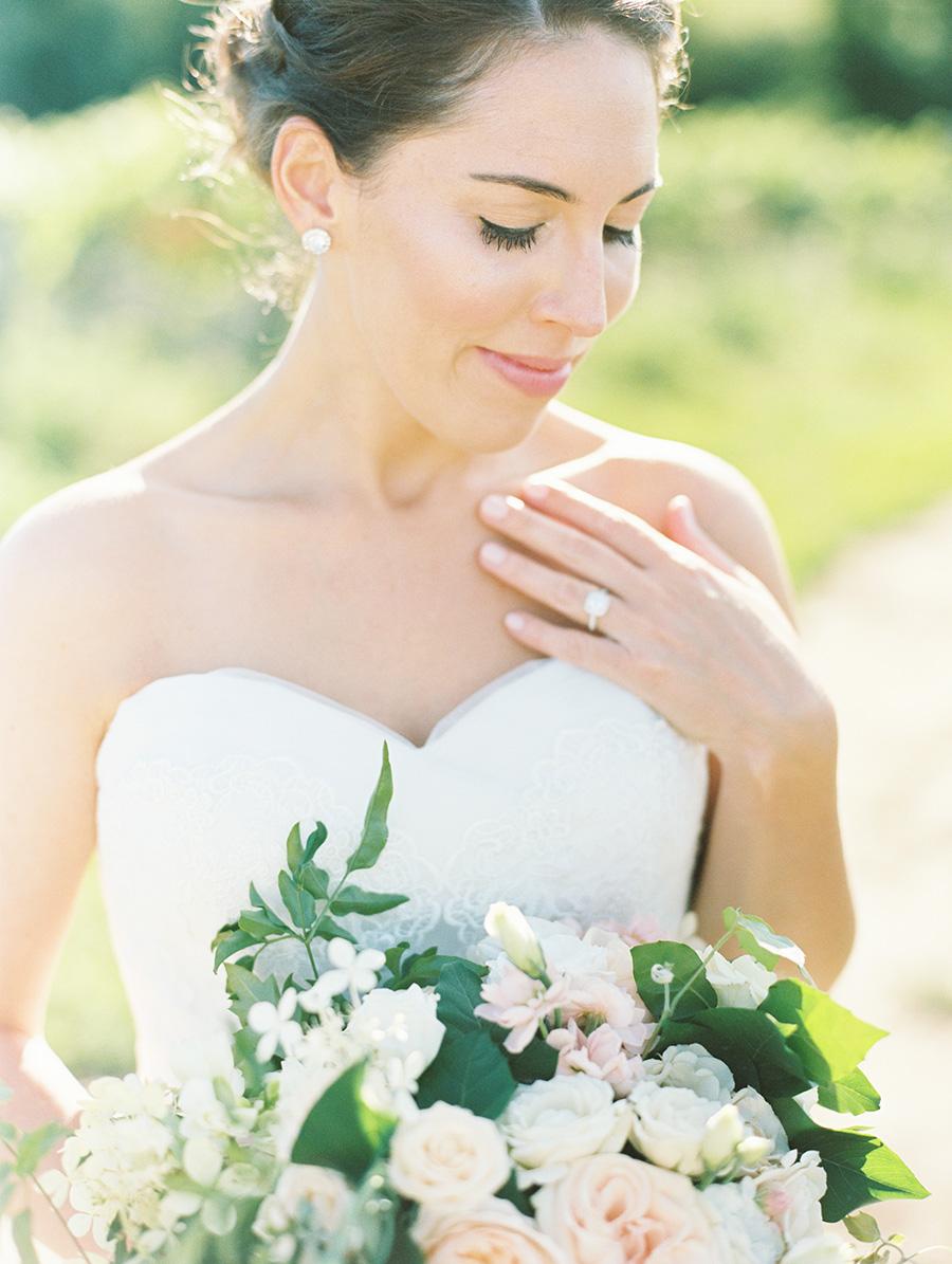 #ferrebride Alex wearing a Pronovias wedding dress