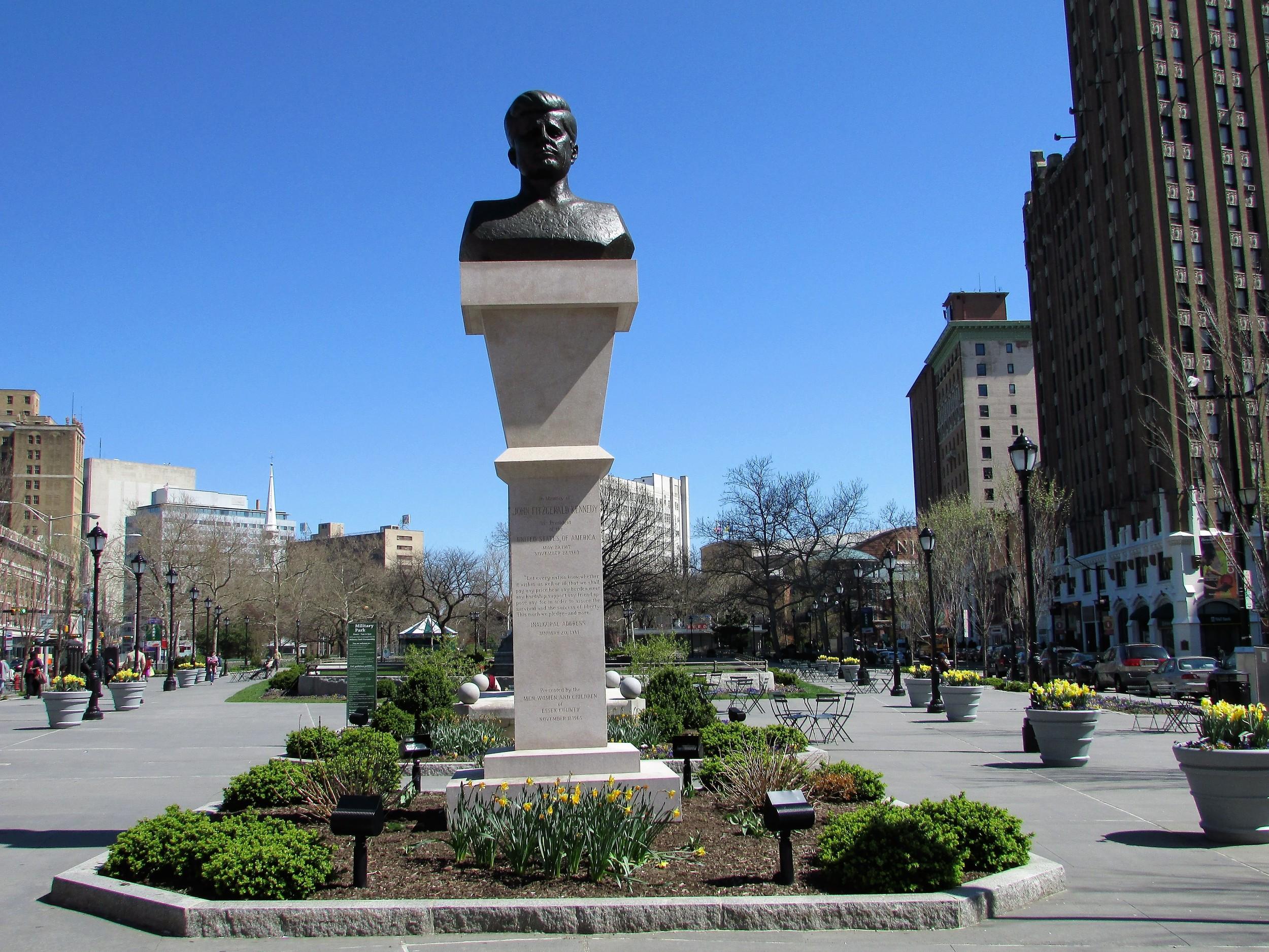 Military Park JFK Monument