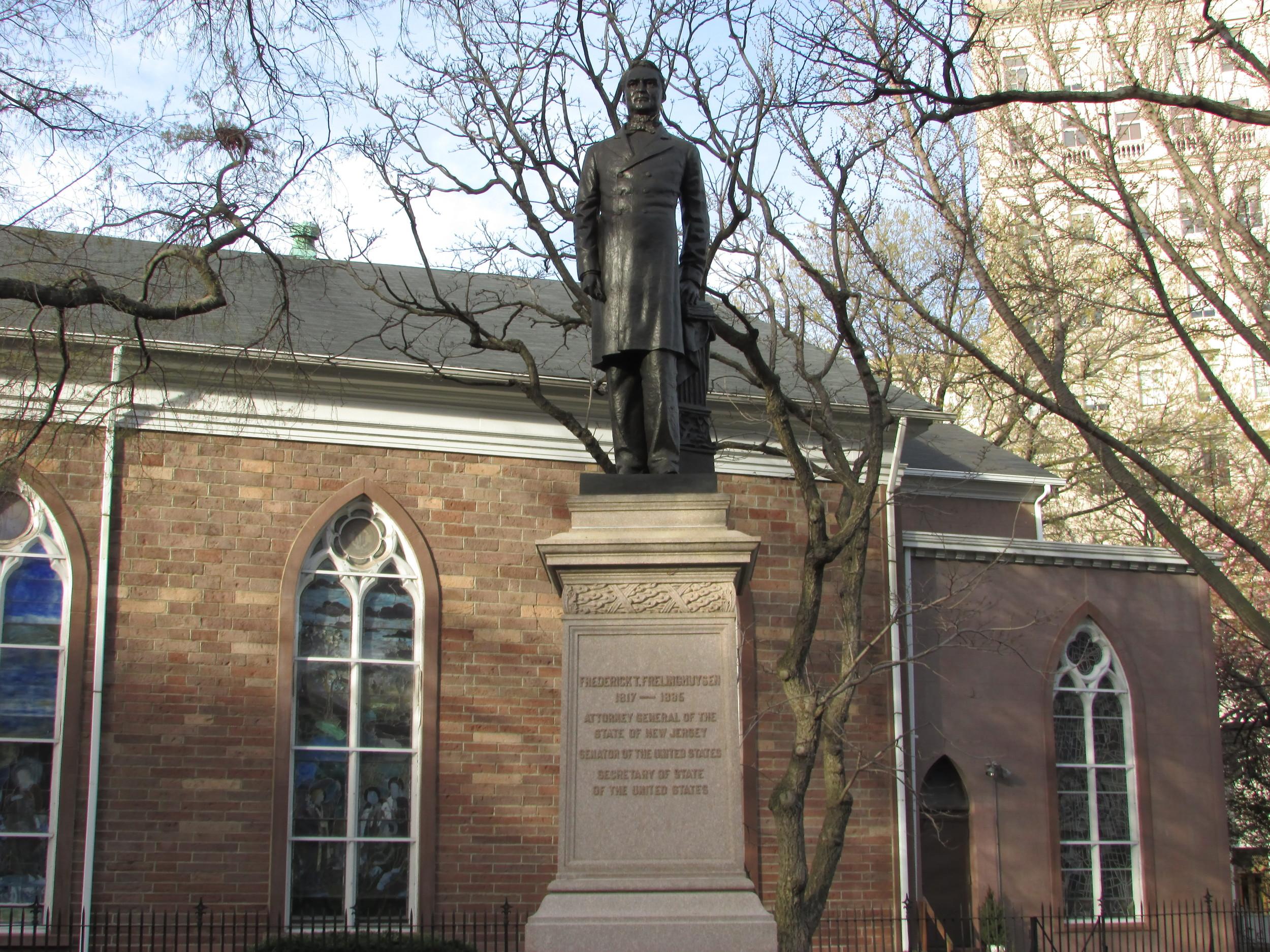 Military Park Frederick Frelinghuysen Monument
