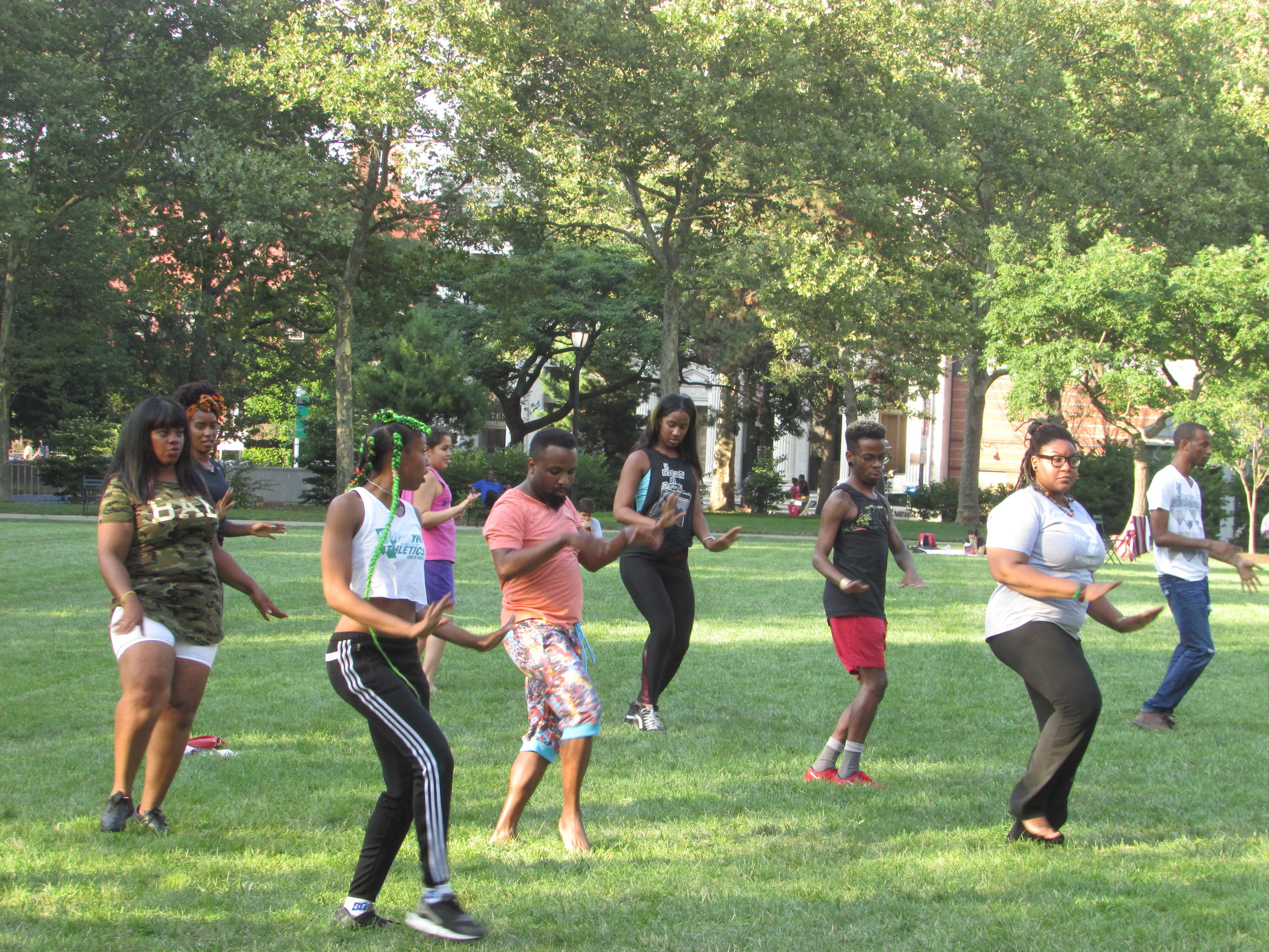 YMCA Hip Hop Class in Military Park