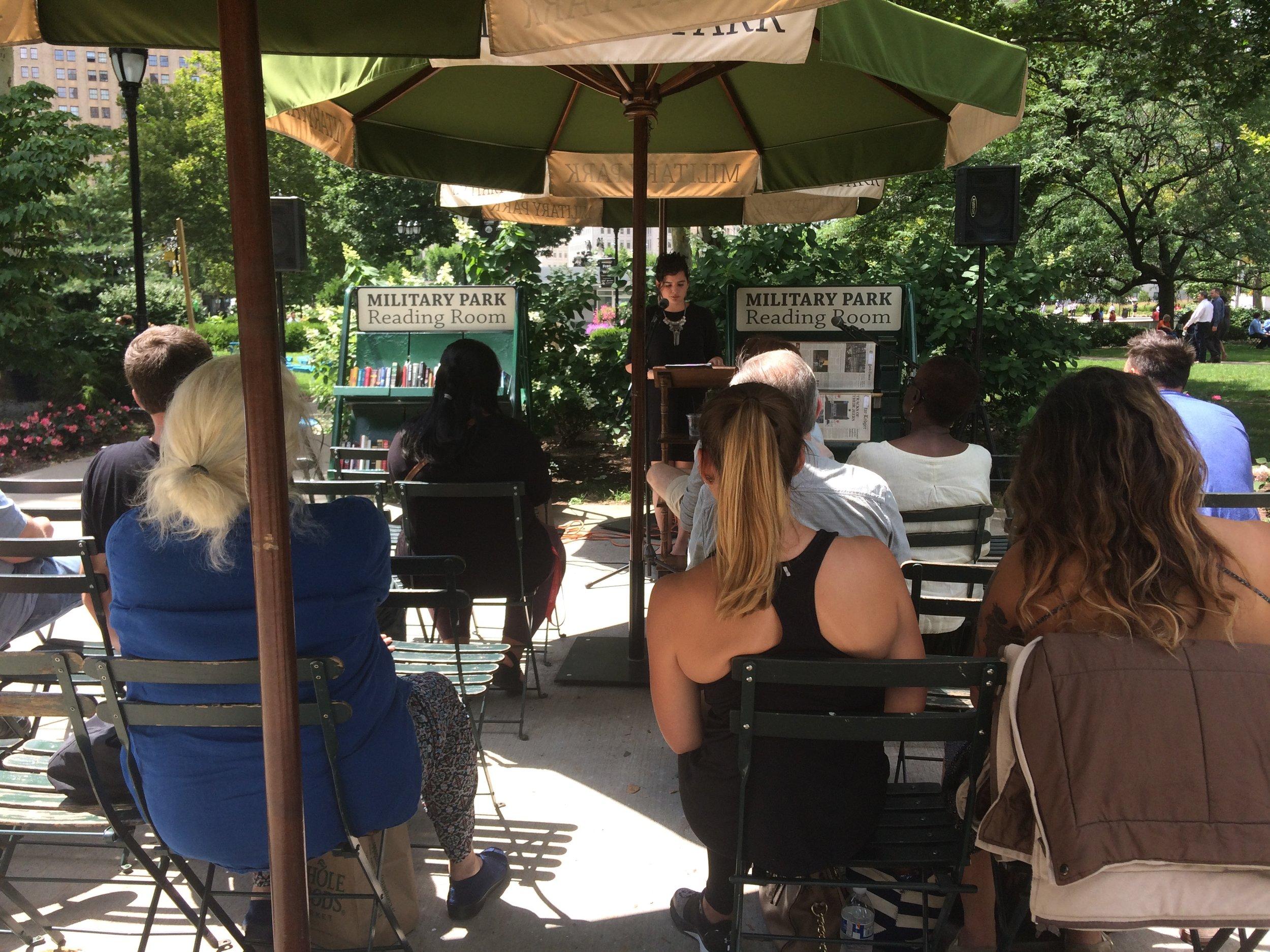 Military Park Author Talks Rutgers Newark MFA