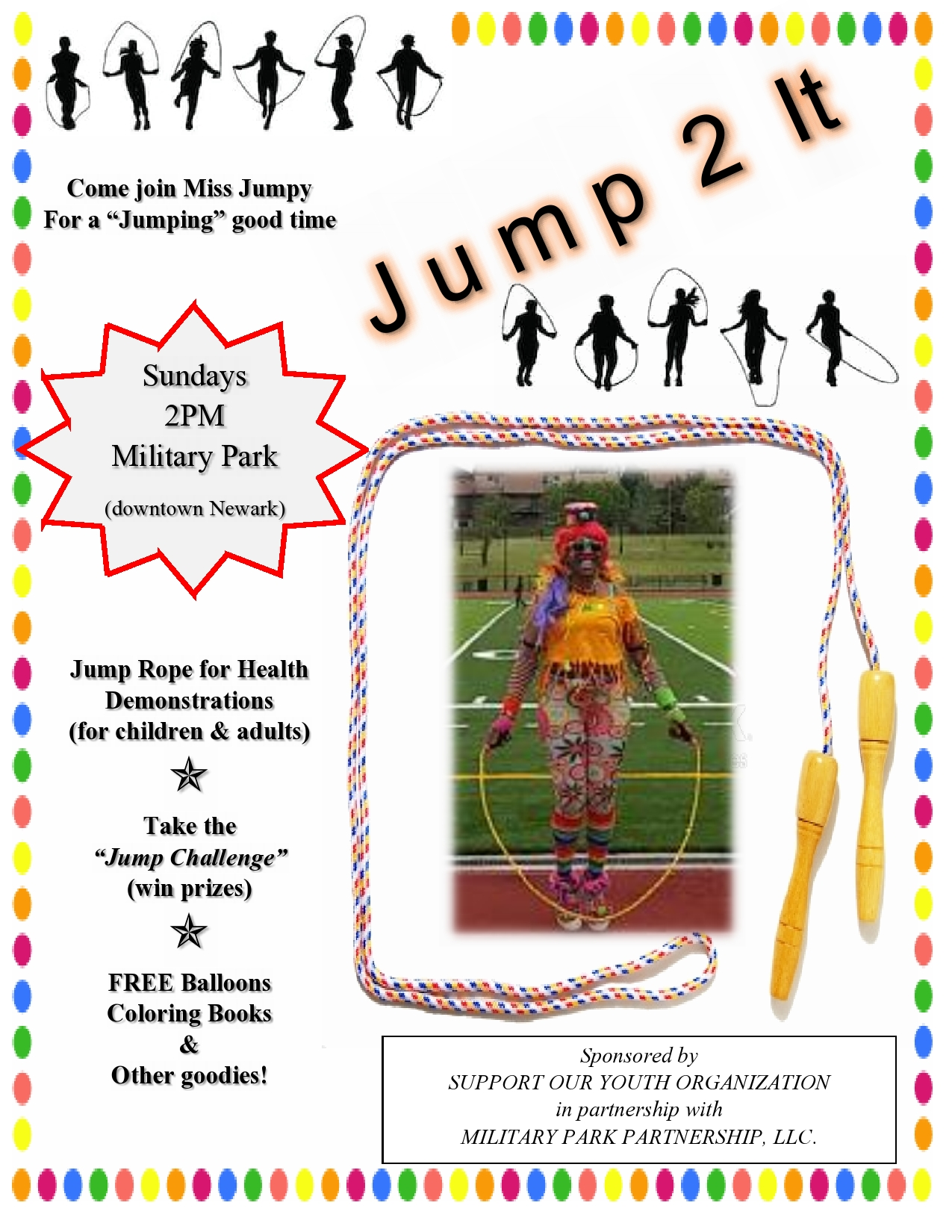 Jump 2 It with Jumpy in military Park