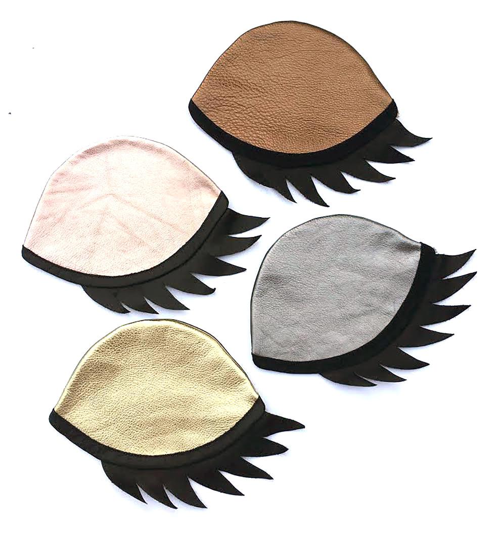 Final design: Custom eye bags for RevitaLash Cosmetics: Copper, Rose Gold, Pewter, Gold