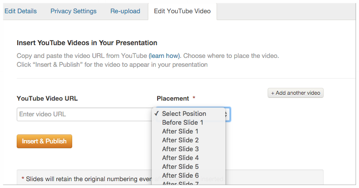 How to upload YouTube video to Slideshare
