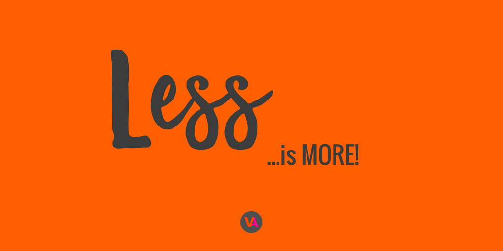 Less is more visual content design