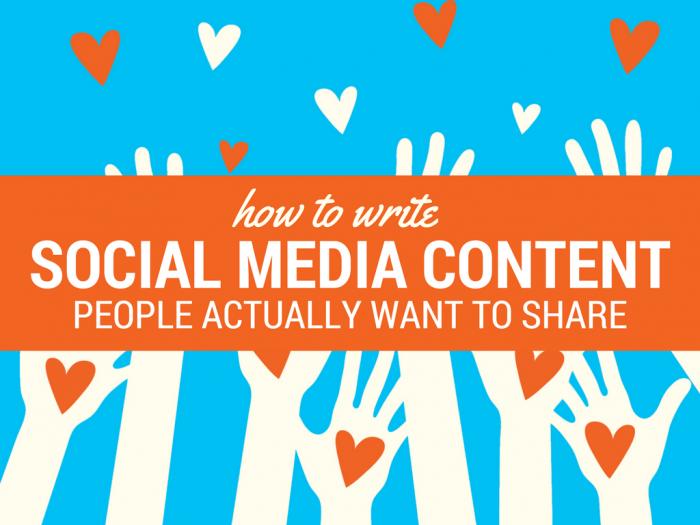 Write Social Media People Share