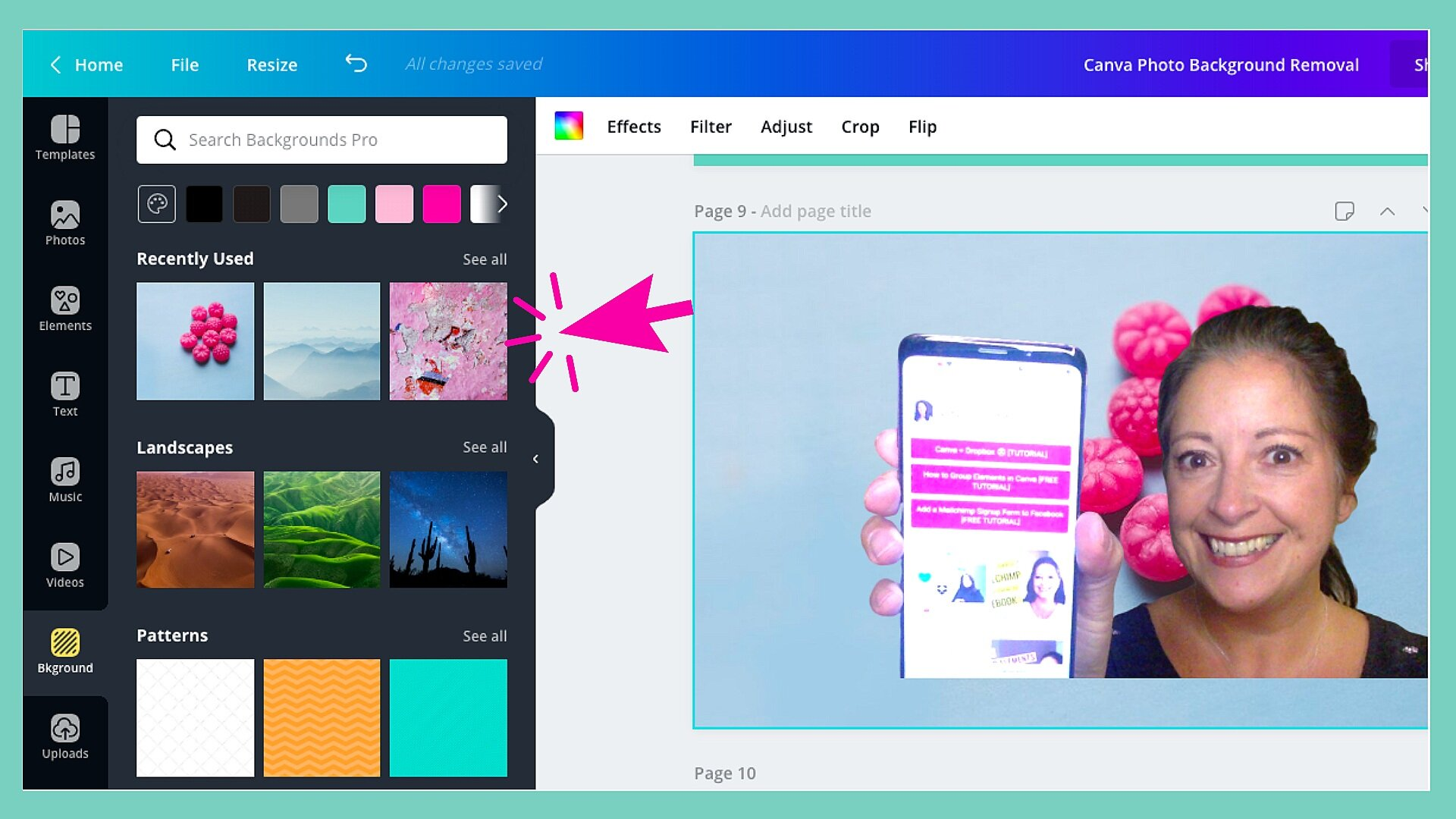 How to Remove and Customise a Photo Background in Canva ...
