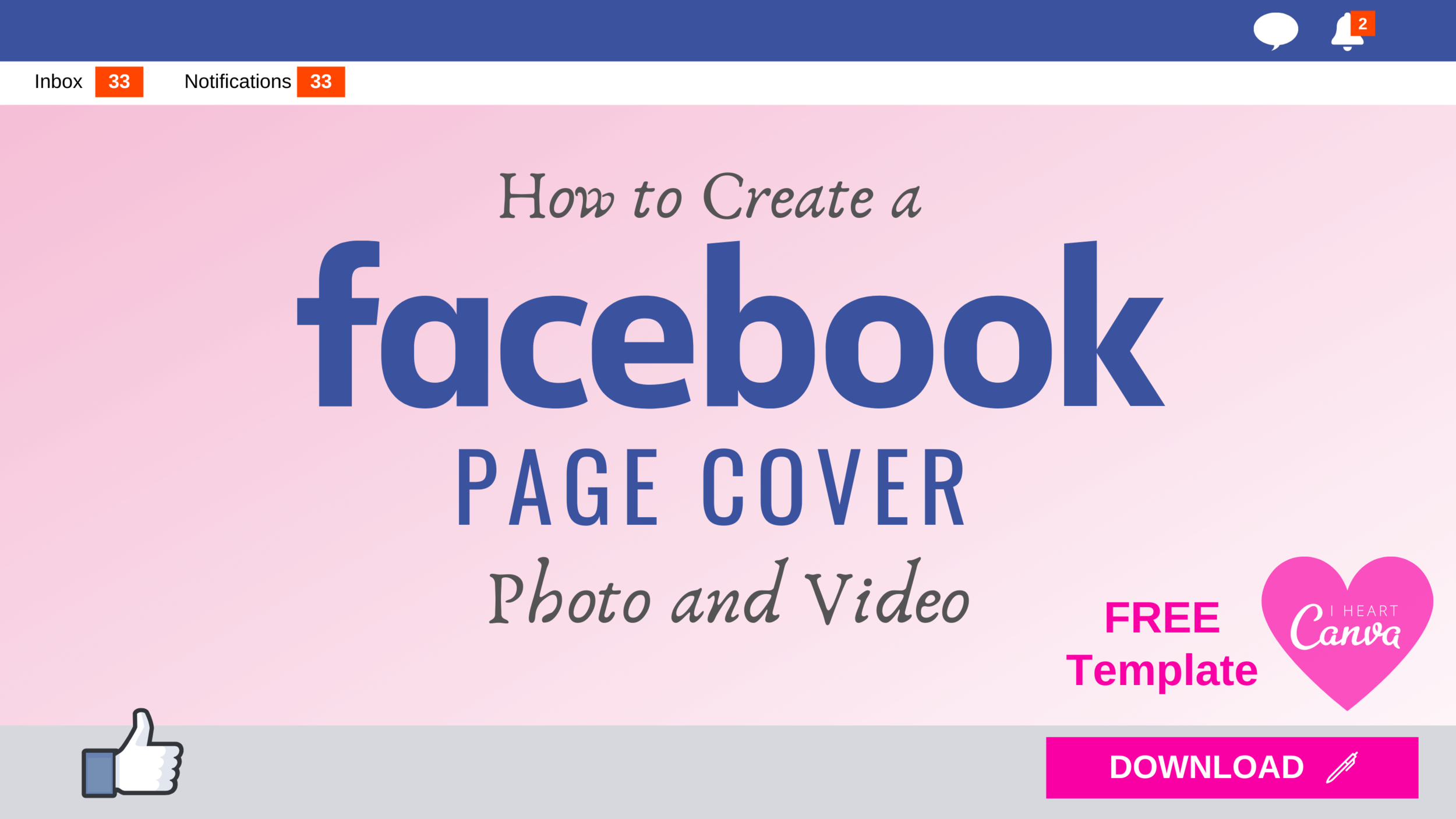 How To Design A Facebook Business Page Cover Photo And Video 2020 Free Canva Template Virtuoso Assistant