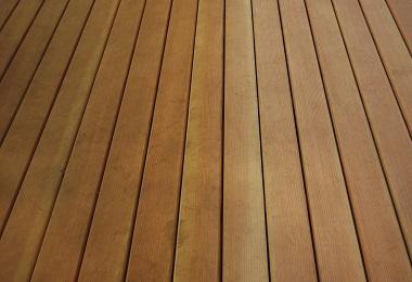 water RESISTANT hardwood decking