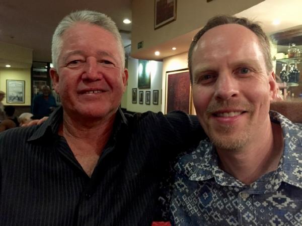 """""""Peje"""" -- Juan Carlos Rojas Castro, and me in Havana"""