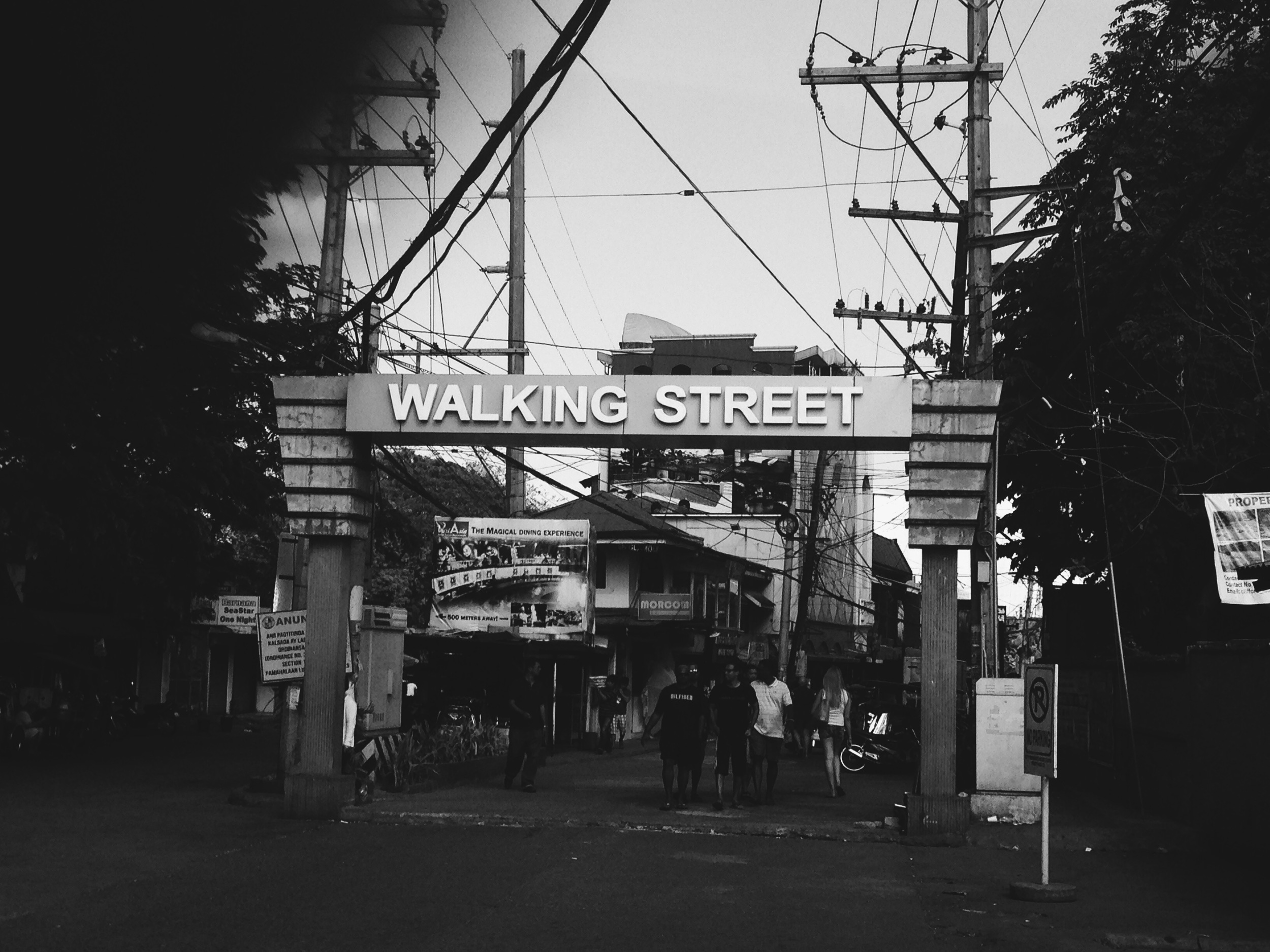 Entrance to the infamous Walking Street in Angeles City, Philippines, known for prostitution