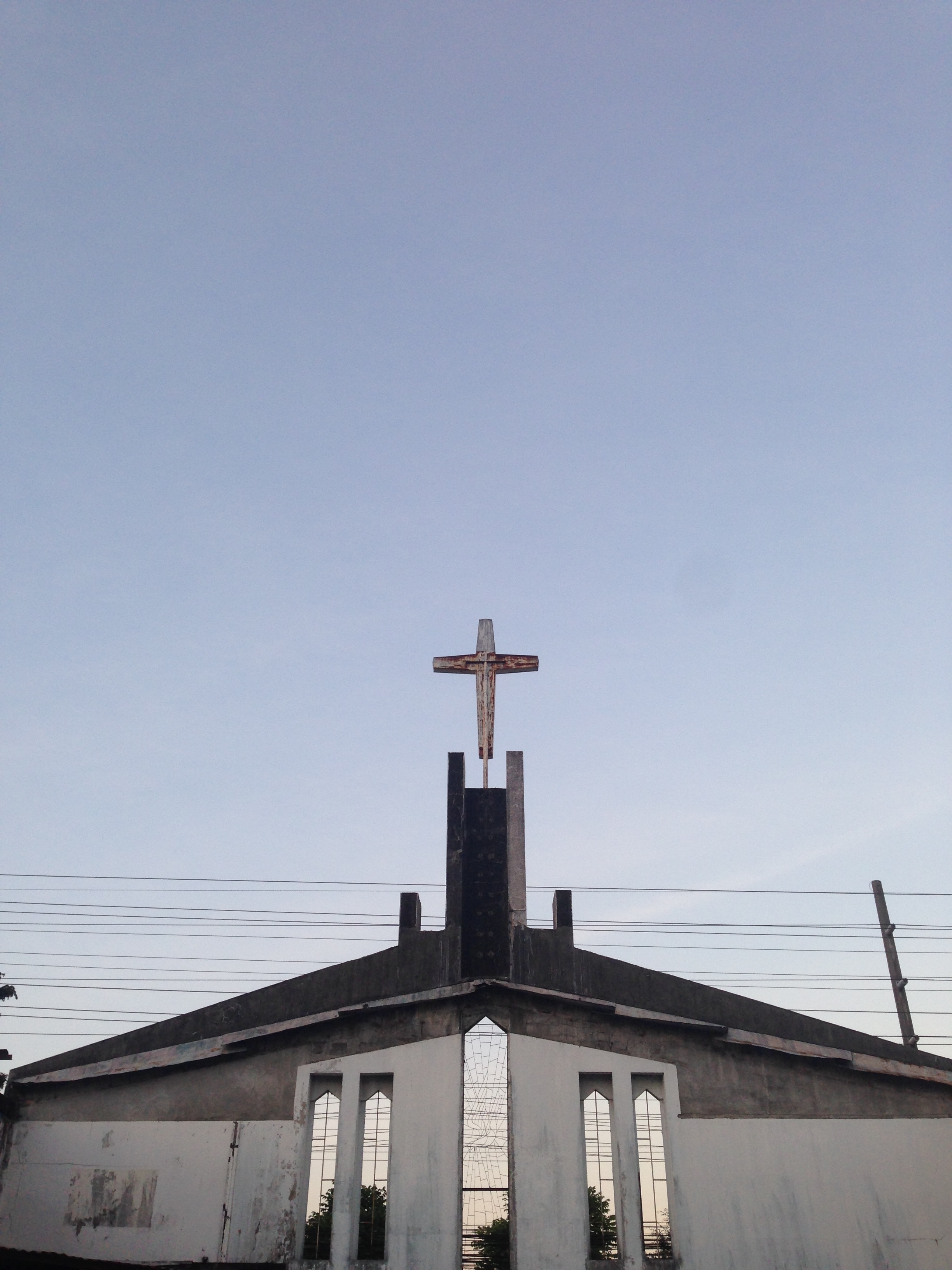 Epic roofless church down the street from Walking Street