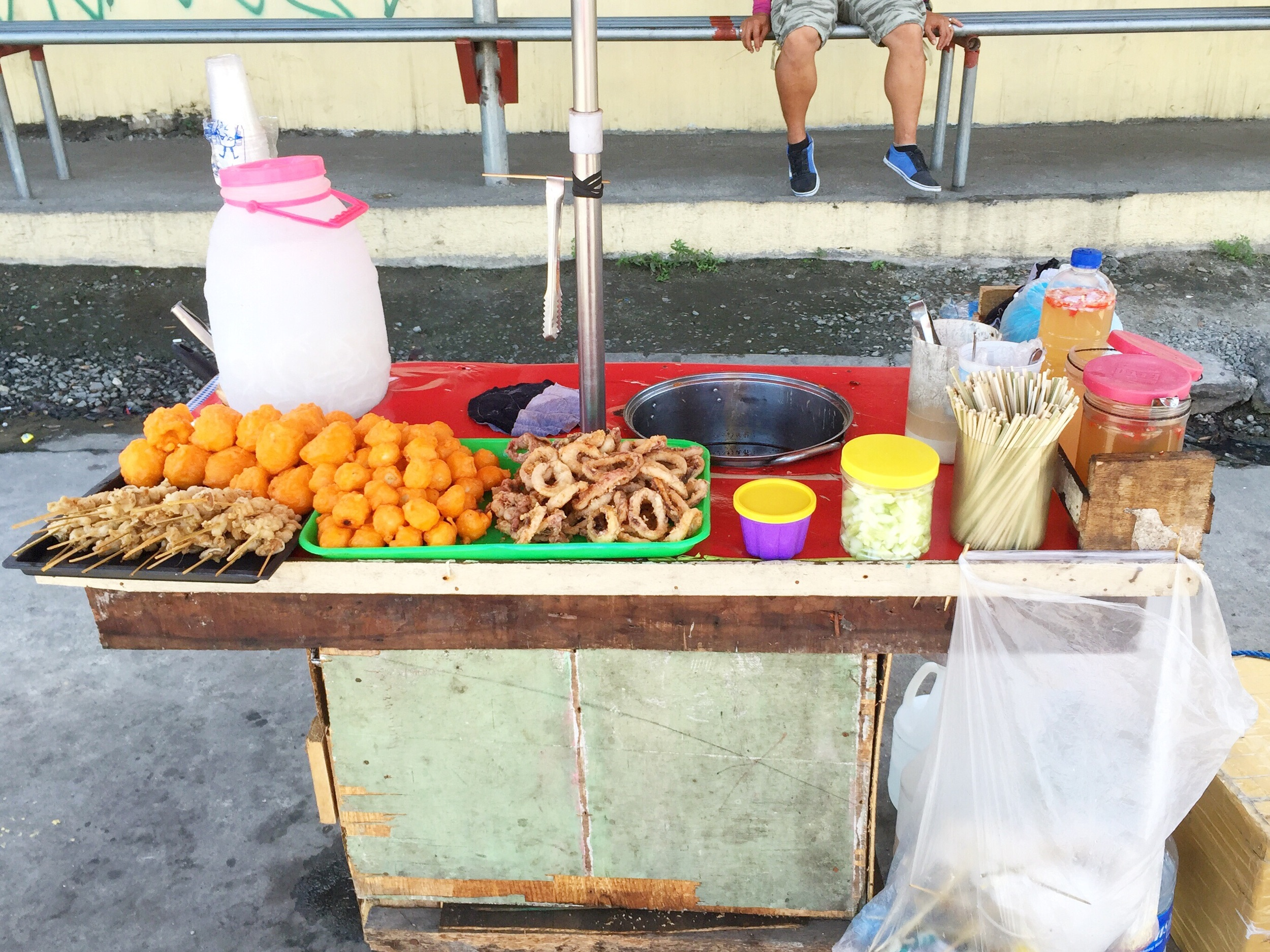 Street food. Not for the faint of stomach.