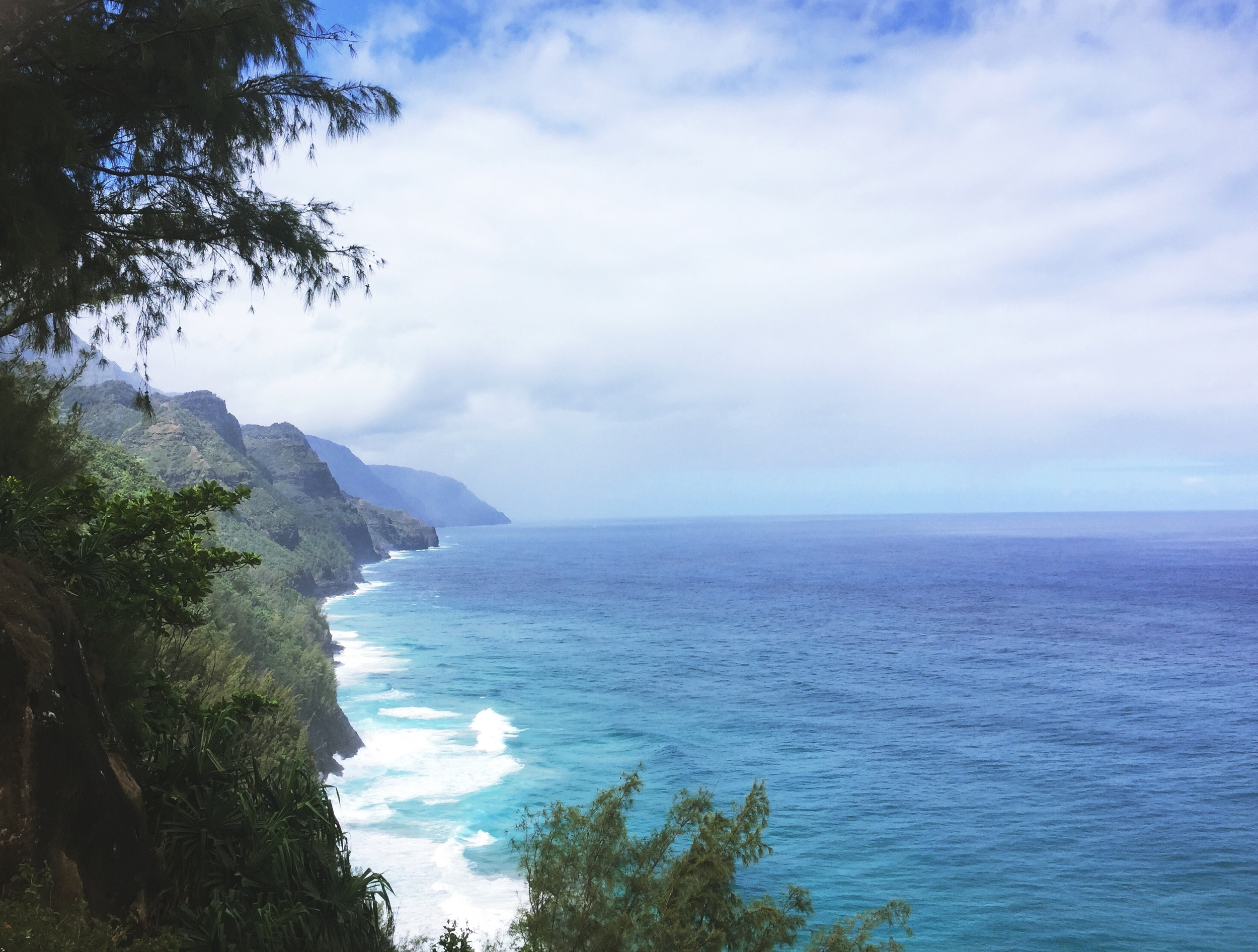 Napali coast view