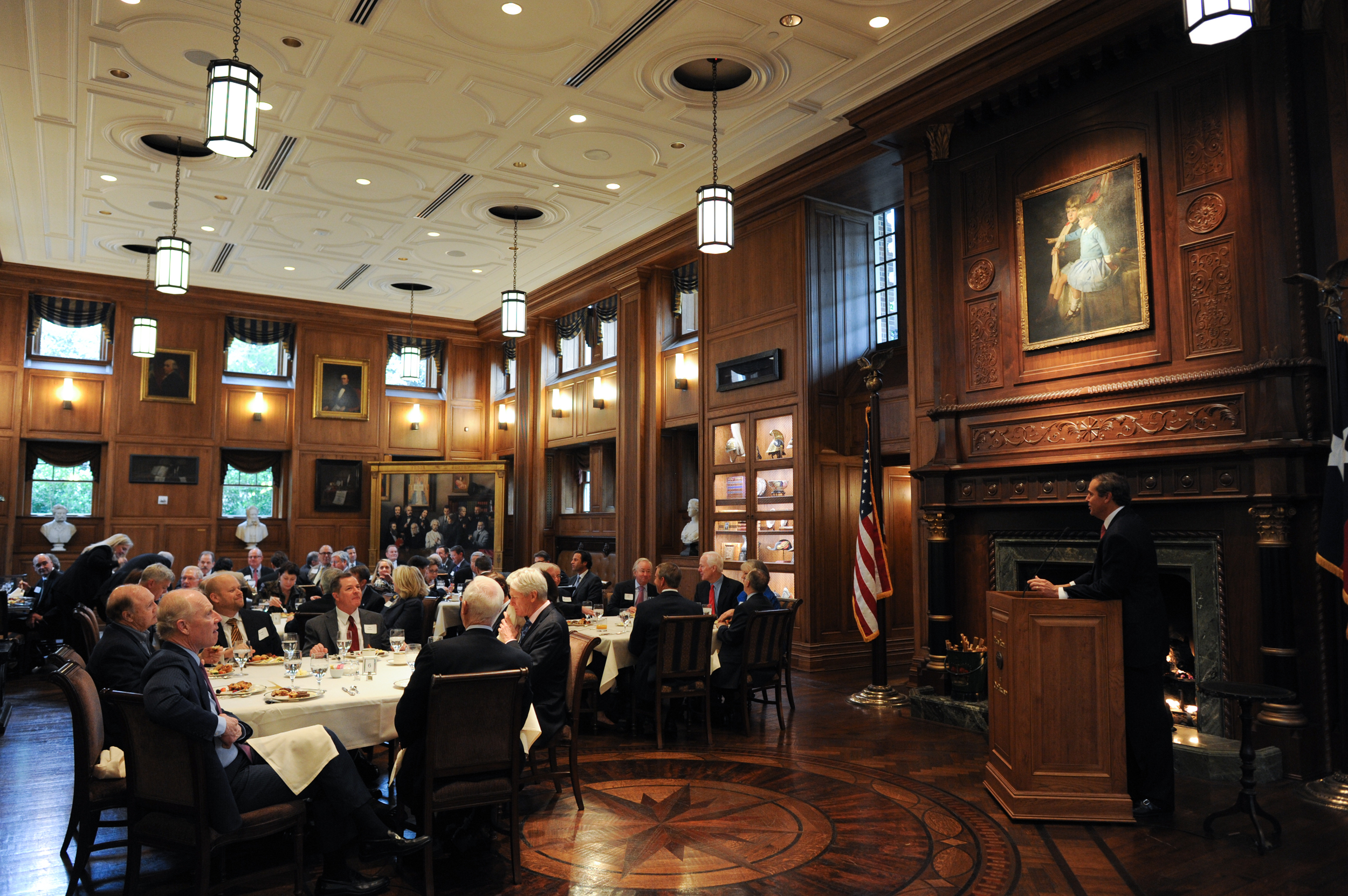 A breakfast supporting the Senate Battleground Fund at Old Parkland in 2014.