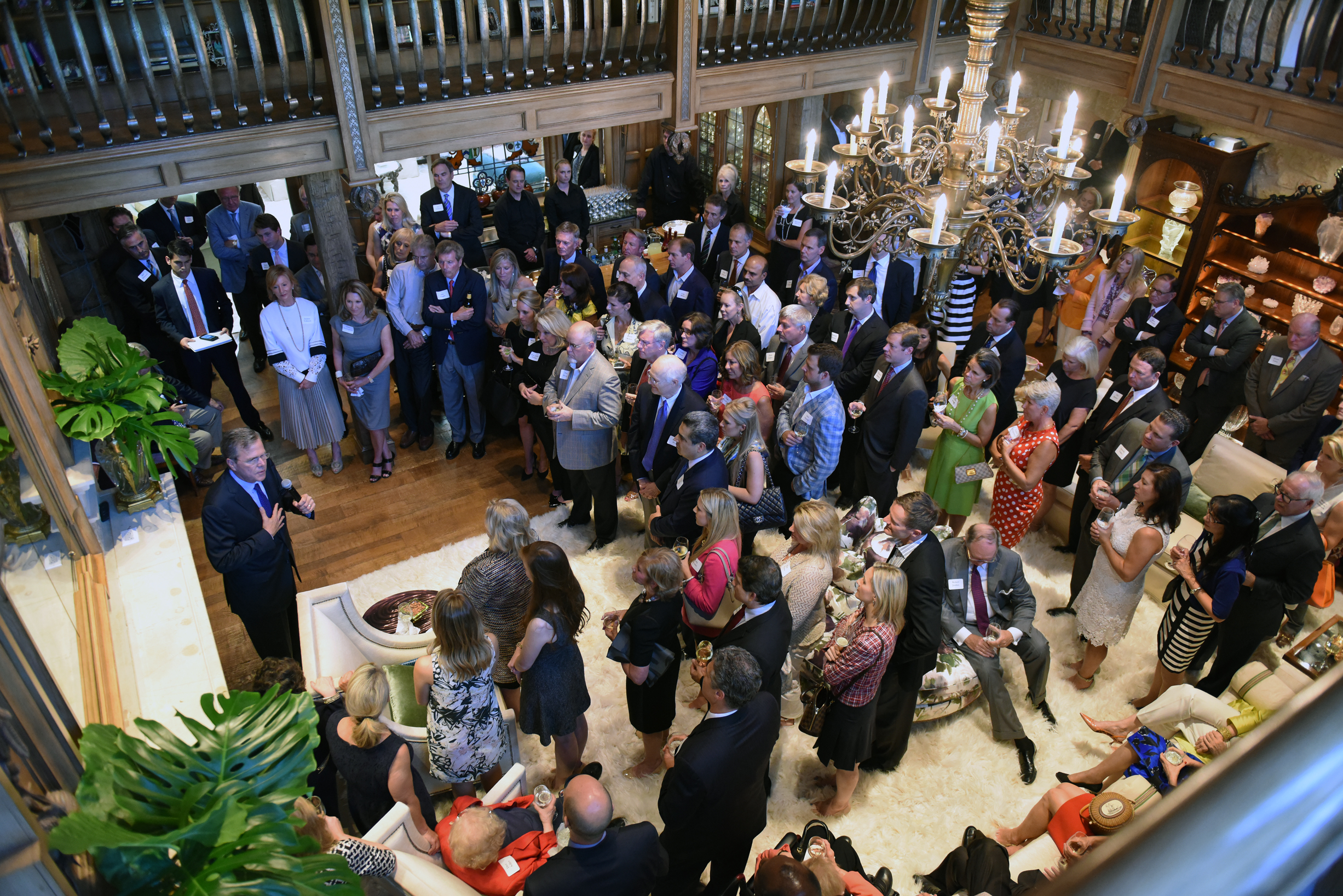 Governor Jeb Bush speaks at an evening reception in Dallas in 2015. Photo courtesy of Gerlinde Photography / Michael Hopkins.