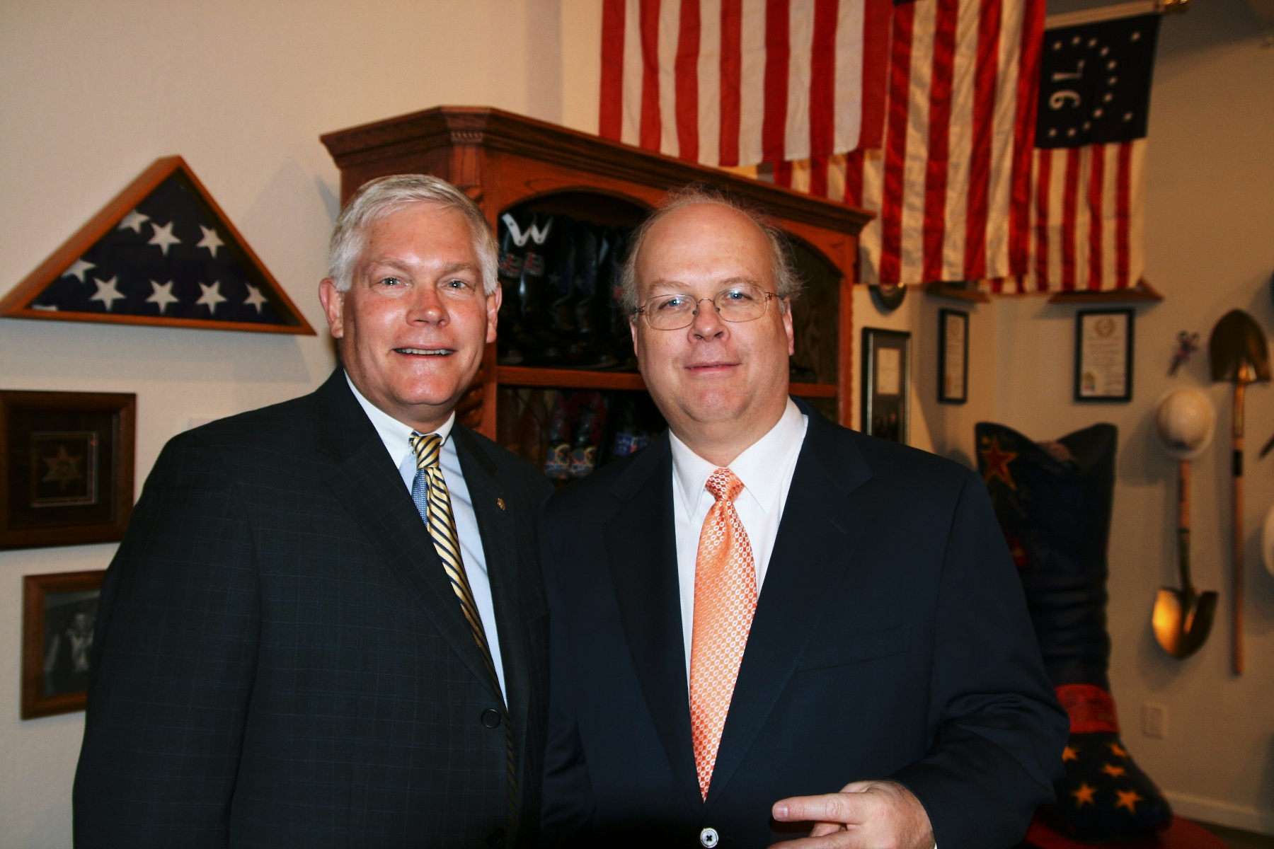 Congressman Pete Sessions and Karl Rove in 2010.