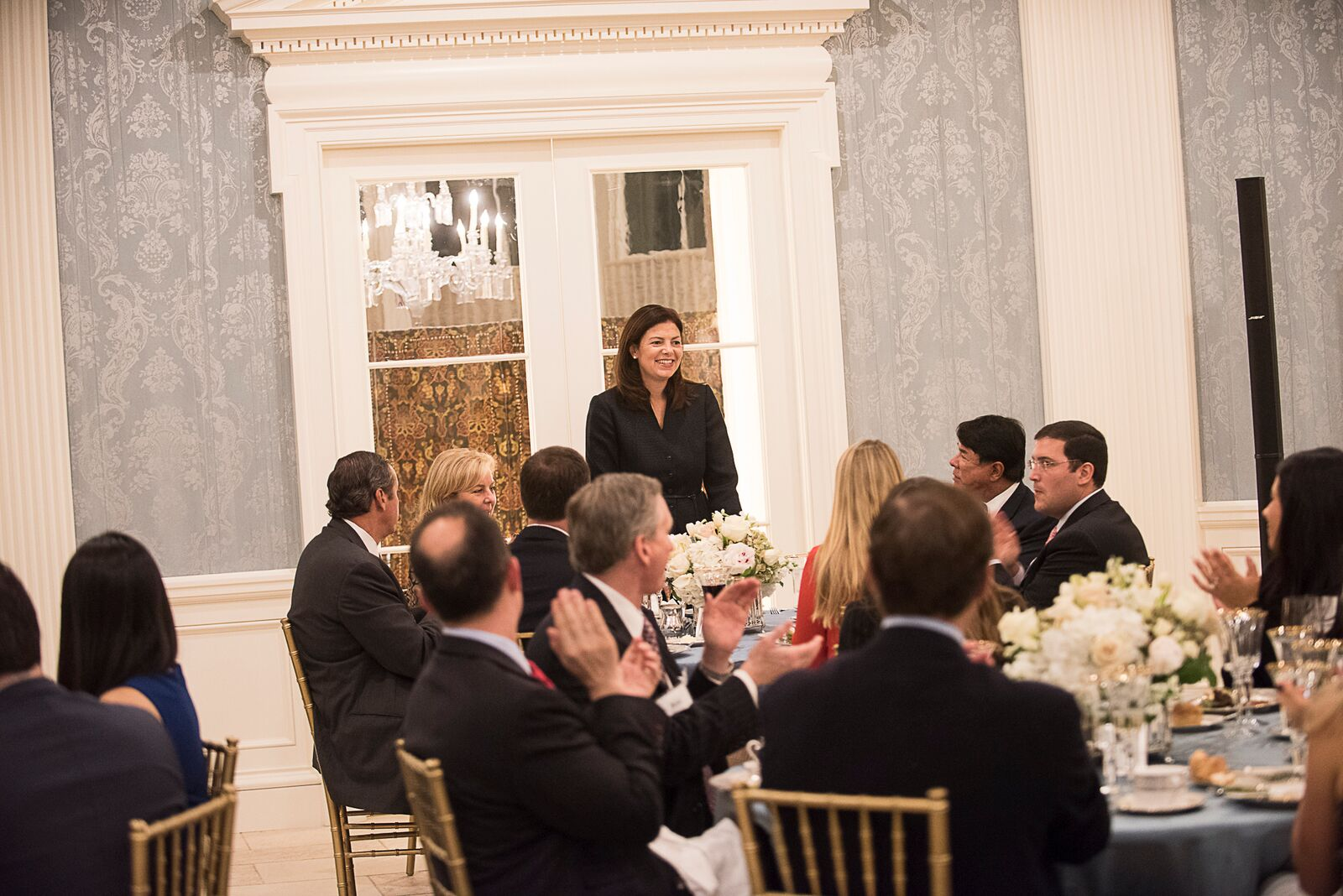 Former Senator Kelly Ayotte gives remarks at the RNC Presidential Trust Dinner in Dallas in 2015.
